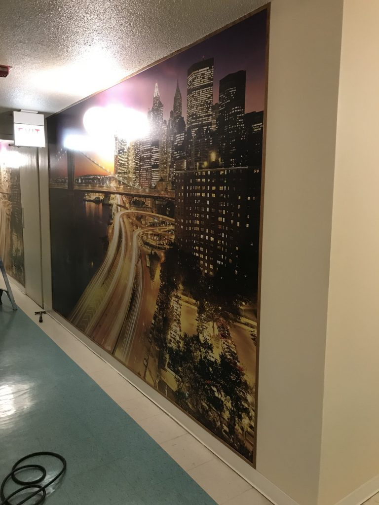 In An Effort To Assist Residents And Reduce Confusion, Since Every Floor Is  Identical, PPD Was Hired To Install Wallpaper Murals On Every Floor To Make  Each ...