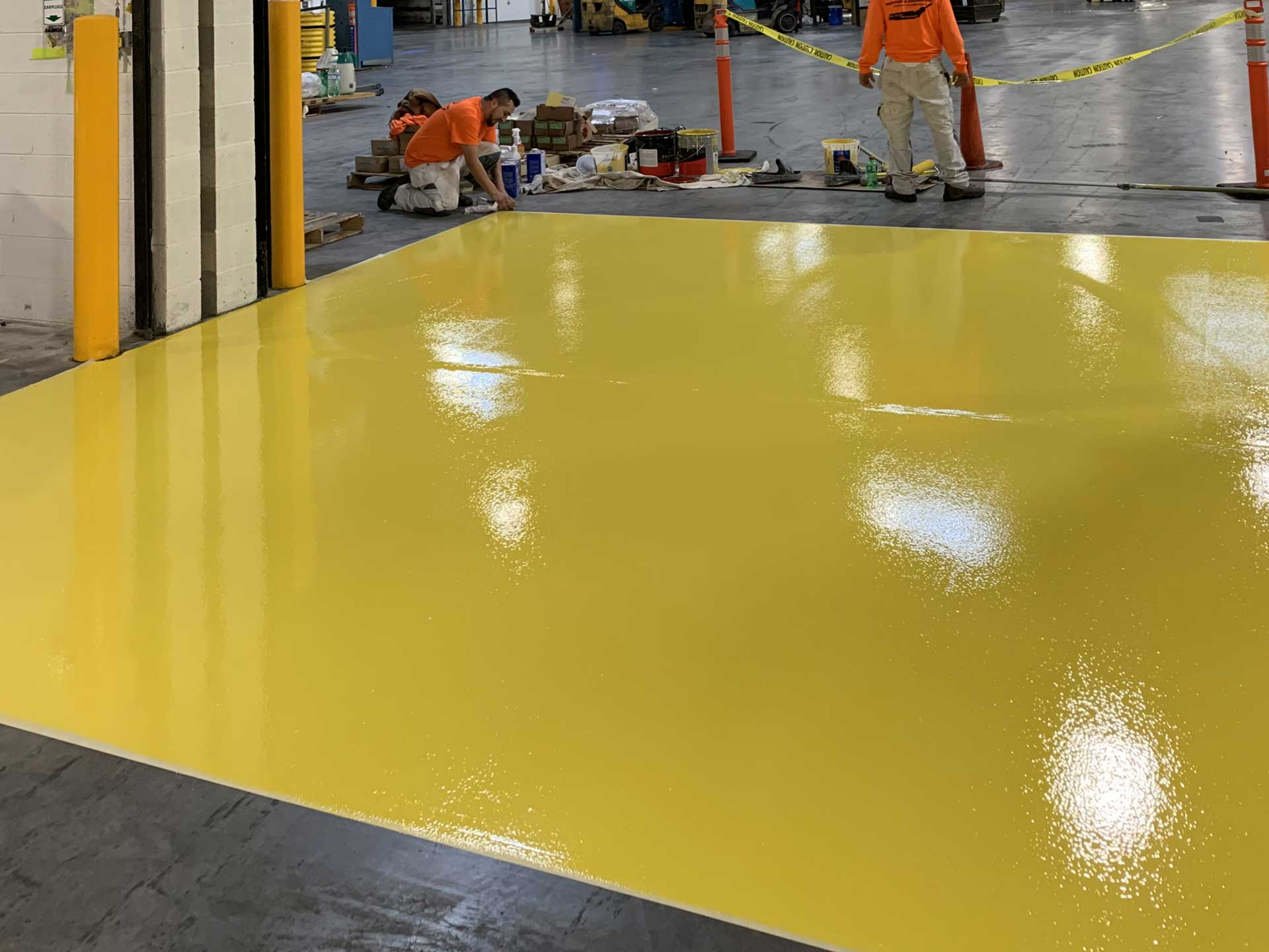 Warehouse Floor Markings After Repainting