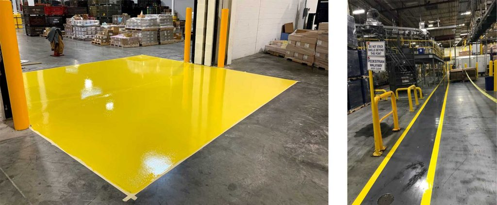 Warehouse Safety Marking and Floor Striping
